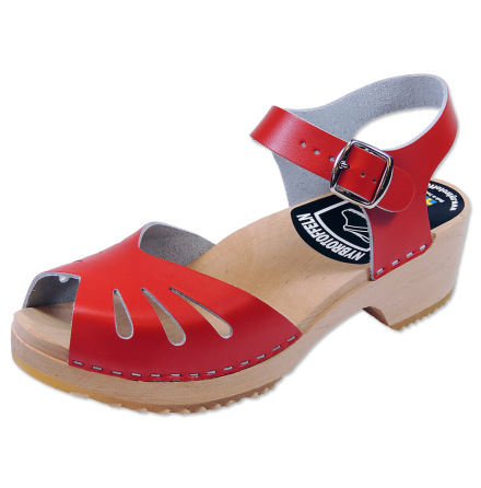 Clog Sandal Butterfly Red