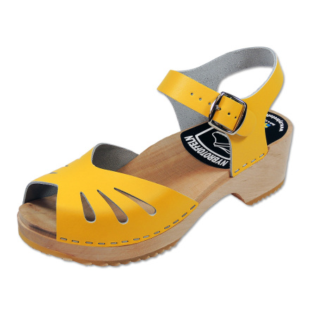Clog Sandal Butterfly Yellow
