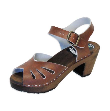 Clog Sandal Butterfly Antique high heel