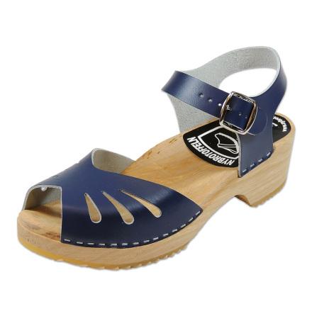 Clog Sandal  Butterfly Blue  high heel