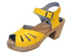 Clog Sandal Butterfly Yellow high heel