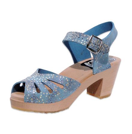Clog Sandal  Butterfly Stingray Blue high heel