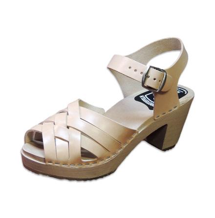 Clog Sandal Ankle Triple high heel