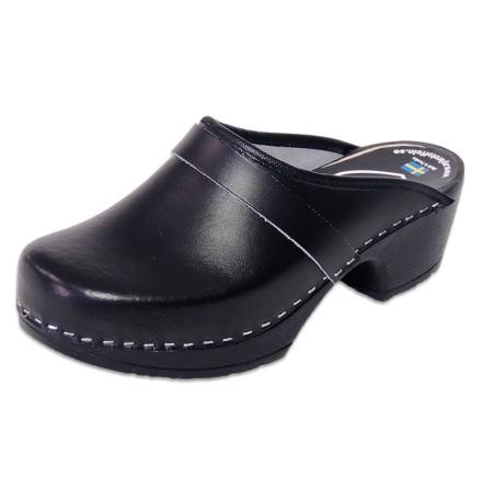 Classic Black PU Women´s Clogs