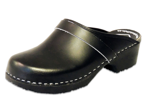 Classic Black PU Men´s Clogs