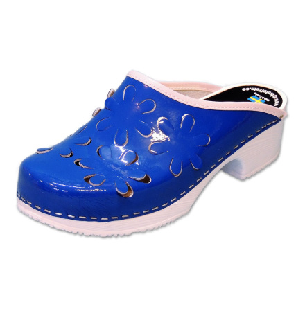 Flower 5B PU Blue Patent Women´s Clogs