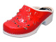 Flower 5B PU Red Patent Women´s Clogs