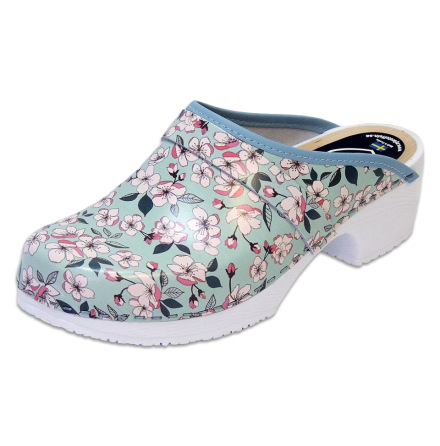 Sakura Mint Women´s Soft Sole Clogs