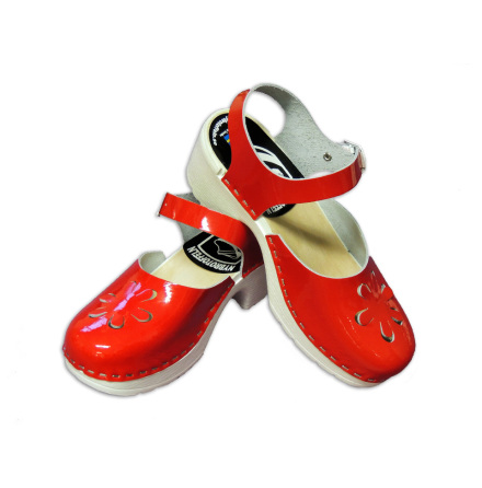 Clog Sandal Peggy PU Red Patent