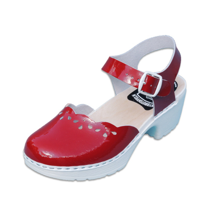 Clog Sandal Marie Red Patent PU