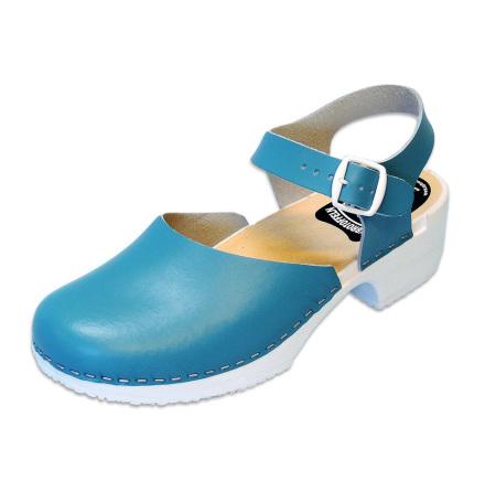 Clog Sandal Emma Pagoda Blue PU