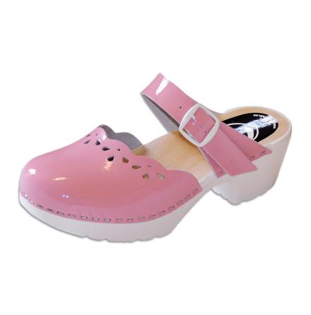 Clog Sandal Penny Pink Patent PU
