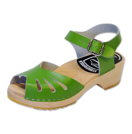 Clog Sandal Butterfly Green
